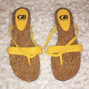 Gianni Bini yellow sandals